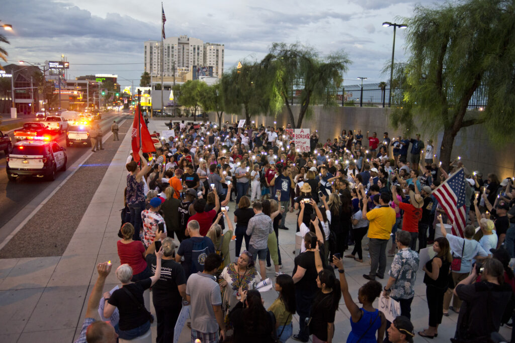 Immigration rally in downtown Las Vegas
