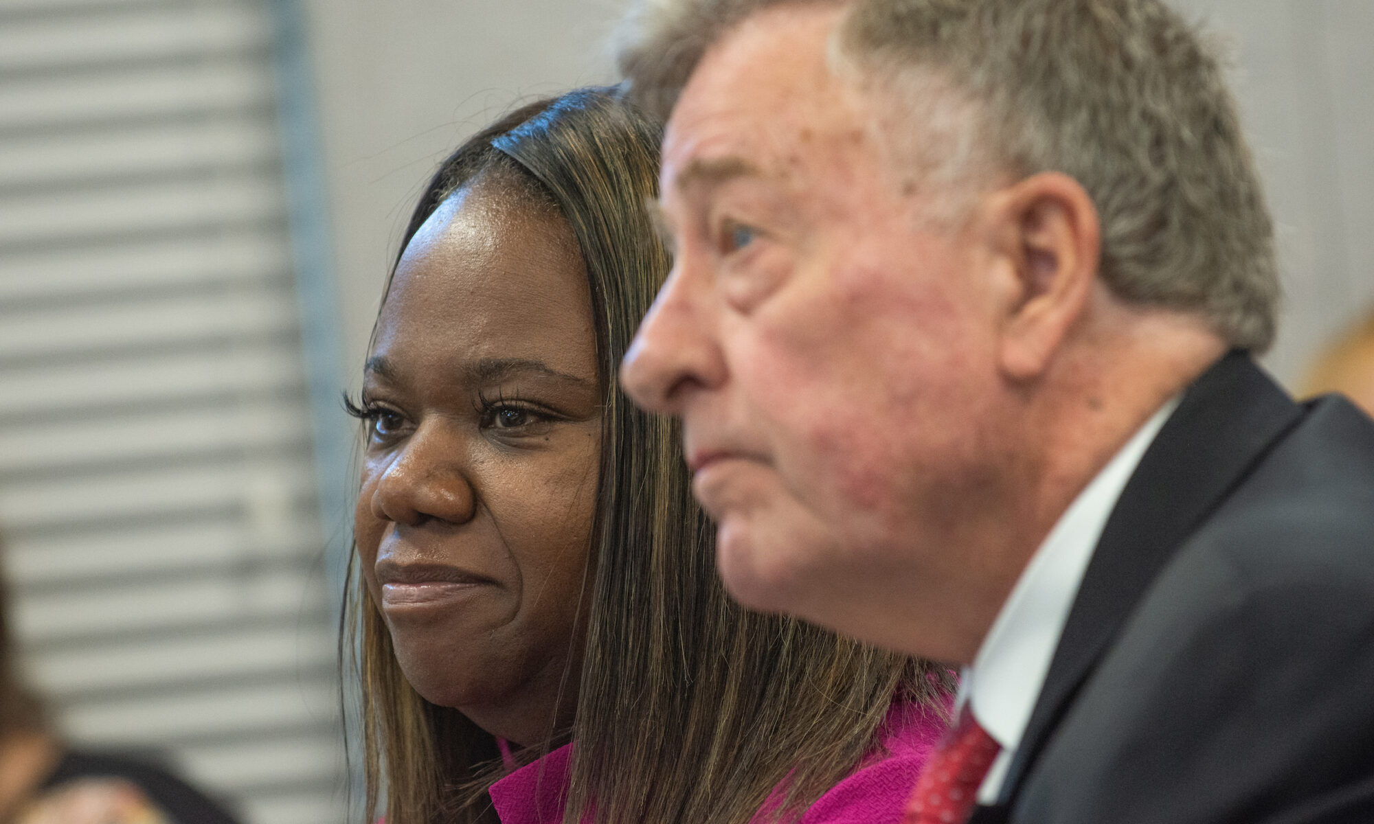 Traci Davis and her attorney William Peterson