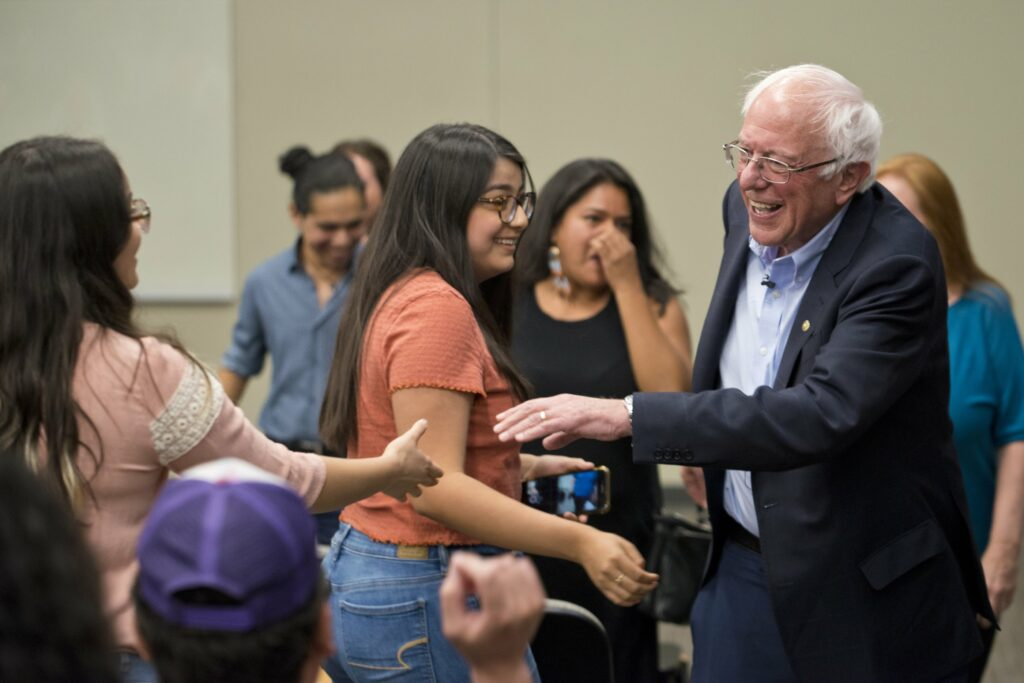 Sanders hones in on immigration, domestic terrorism and foreign policy during Latinx town hall at UNLV