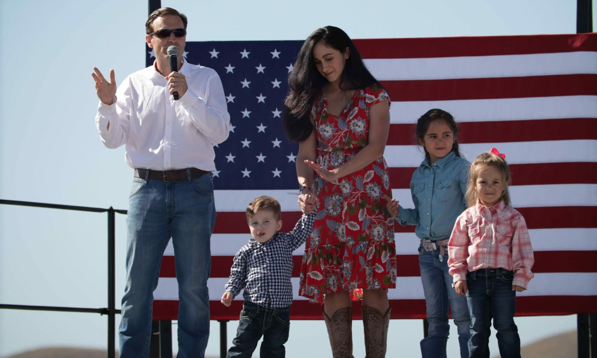 Republican former Attorney General Adam Laxalt and his family