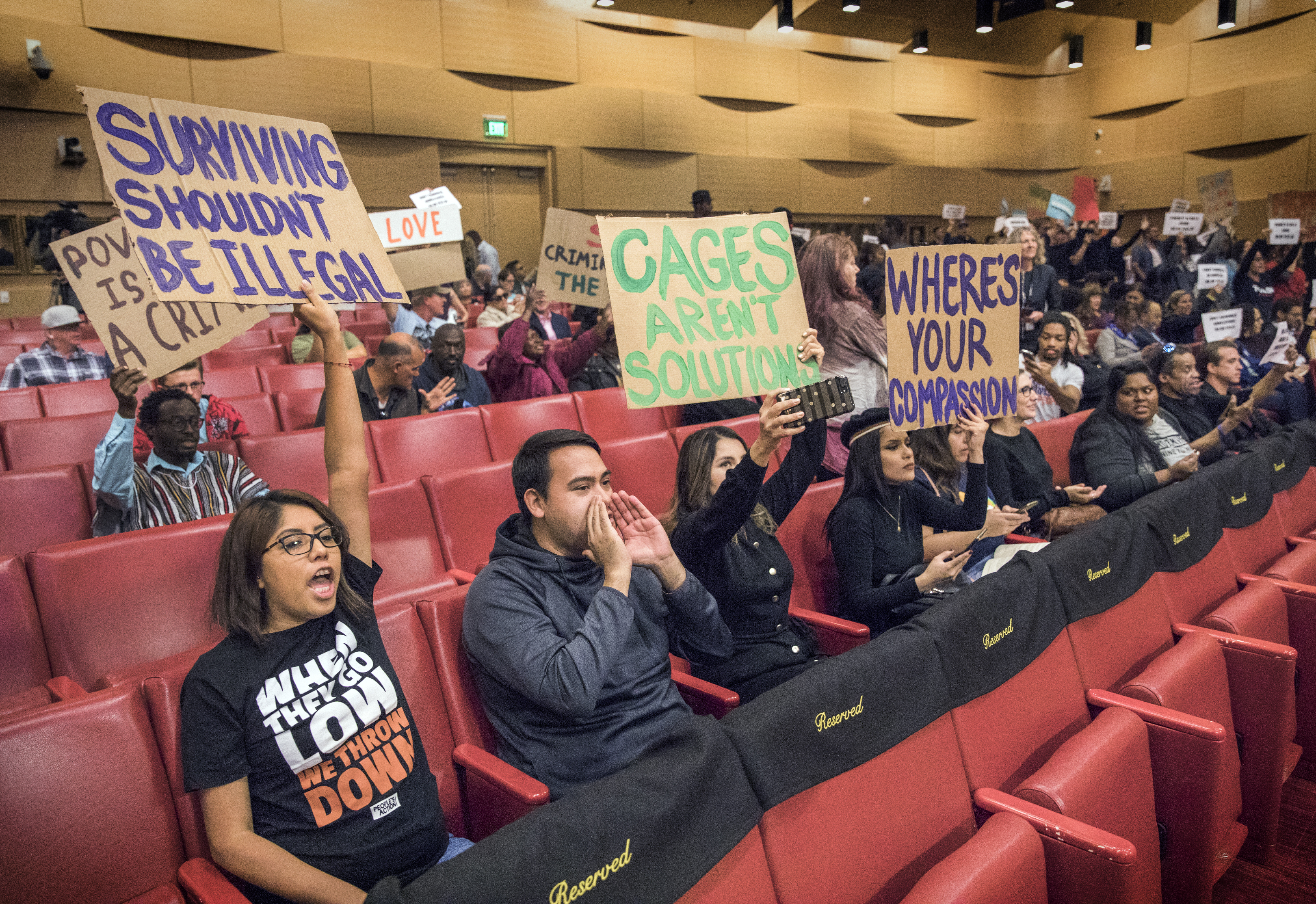 Protesters at Vegas council meeting