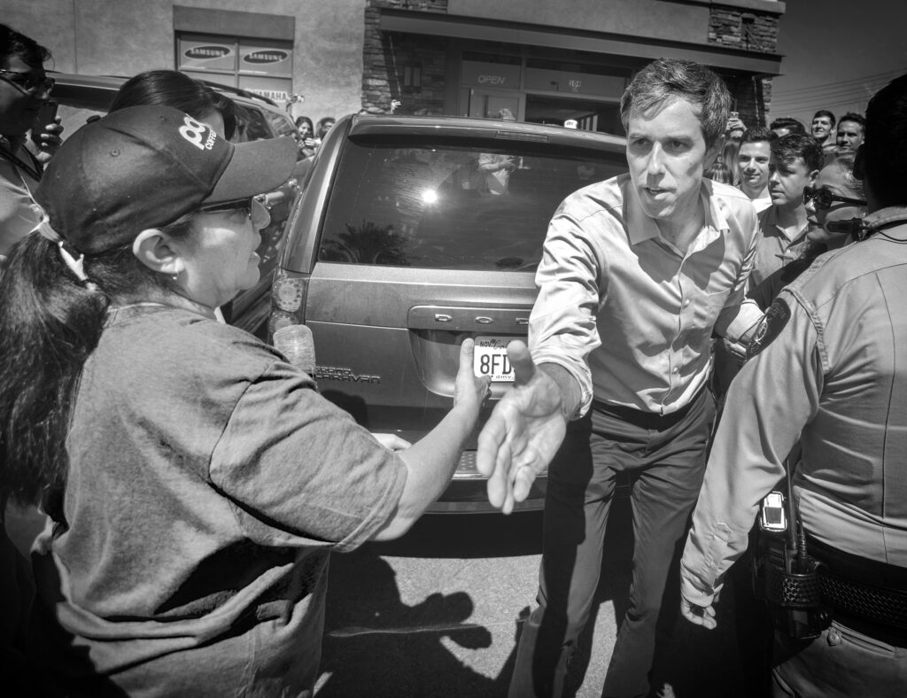 Former Congressman Beto O'Rourke at campaign event