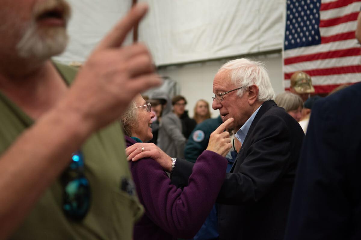 Bernie Sanders at Carson City rally