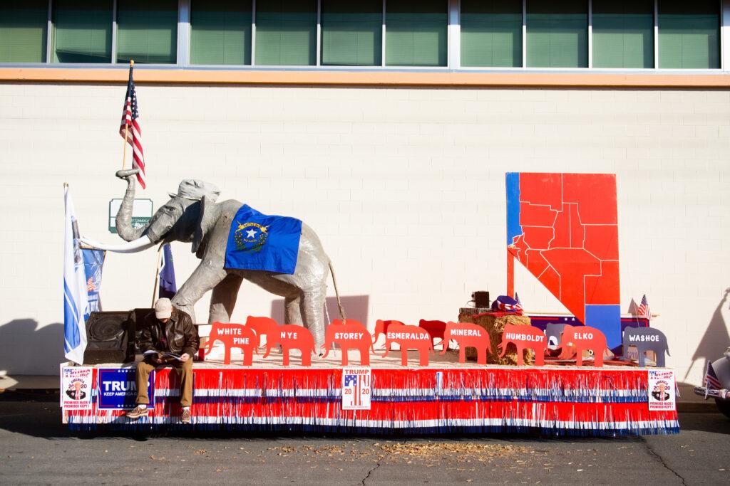 Nevada Day Parade float