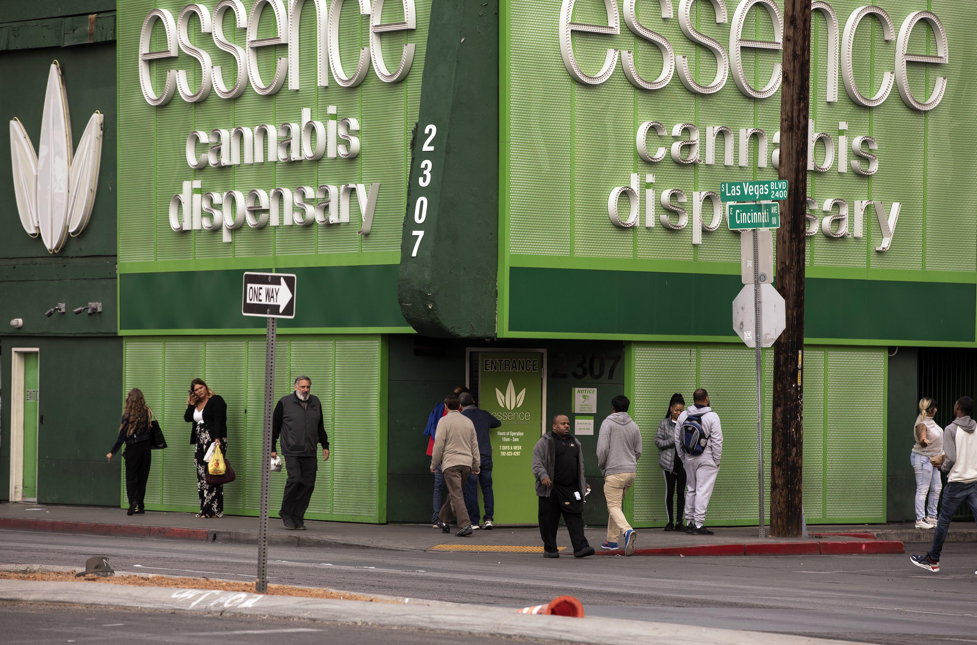 Buyers outside marijuana dispensary