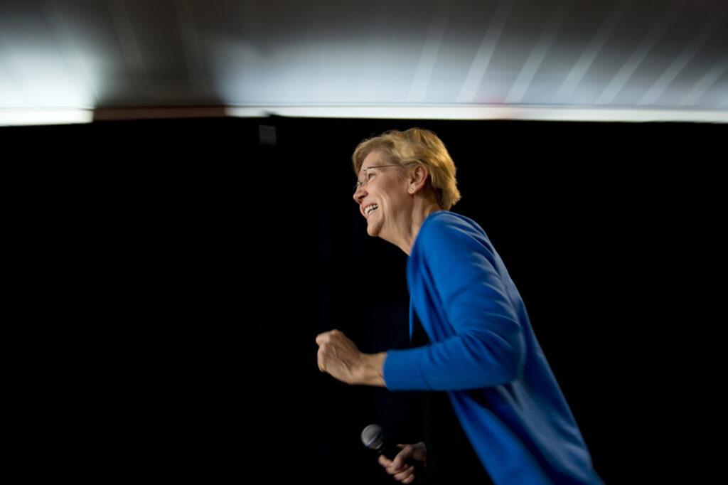 Sen. Elizabeth Warren at campaign event