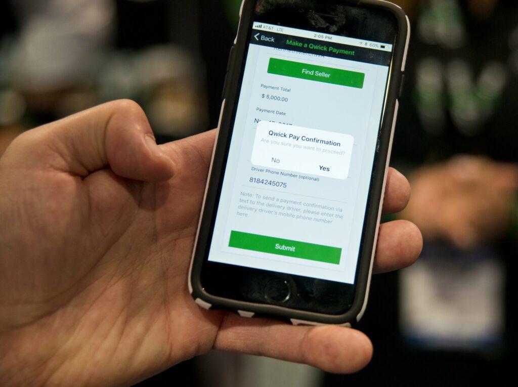 Phone with marijuana payment app
