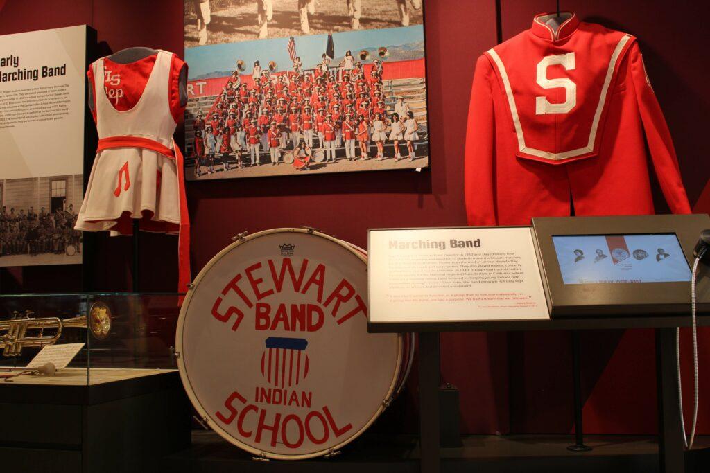Stewart Indian School band uniforms