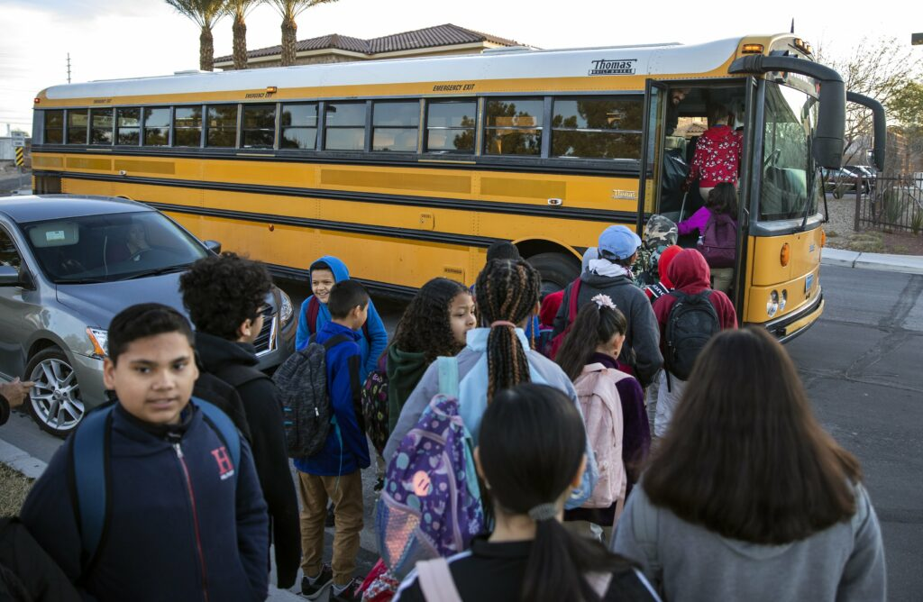 Why A Las Vegas Charter School Made A Pledge To Parents And Bought Two Yellow School Buses