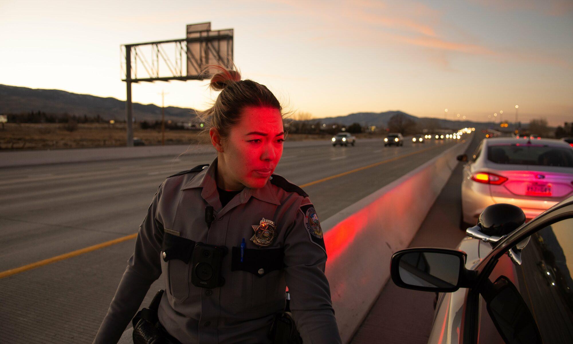 Trooper Hannah DeGoey traffic stop