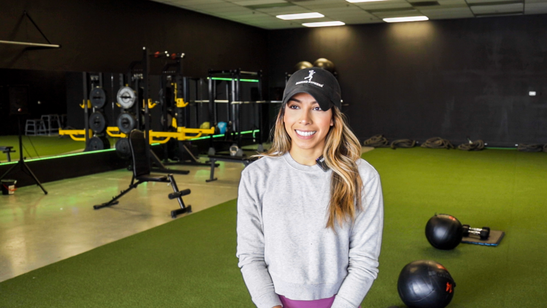 Alejandra Salas, owner of Reno Aspire Fitness, at her gym