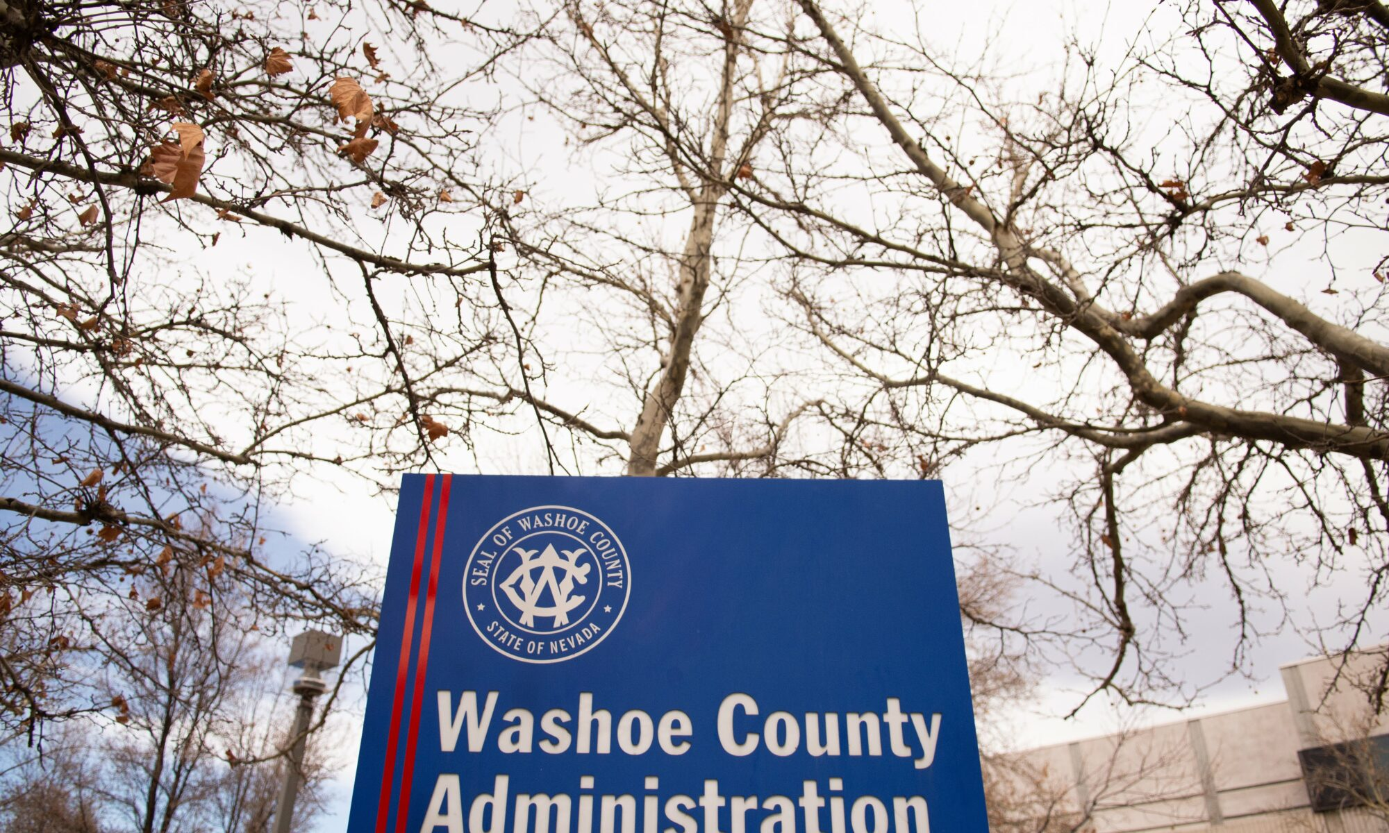 Washoe County building sign