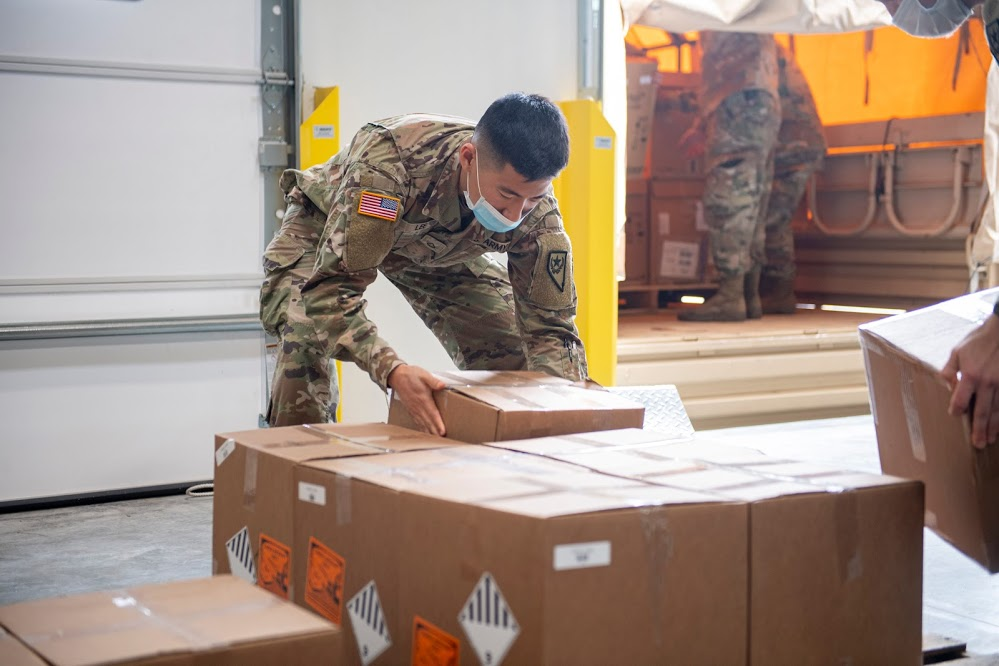 Shipment of ventilators