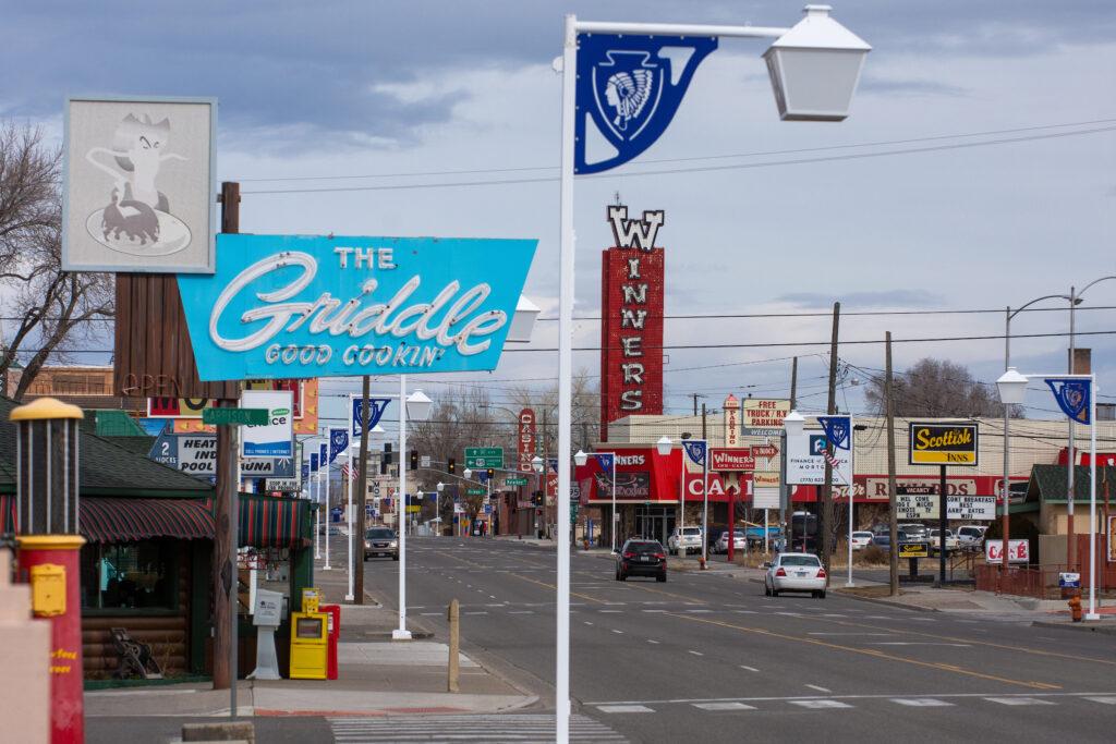 Signs on Winnemucca Blvd