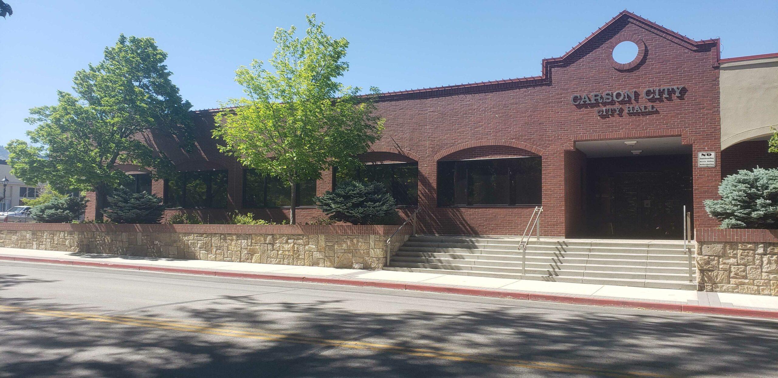 The Carson City City Hall on a sunny day
