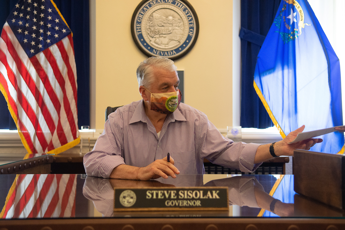 Governor Steve Sisolak signs Assembly Bill 1 into law