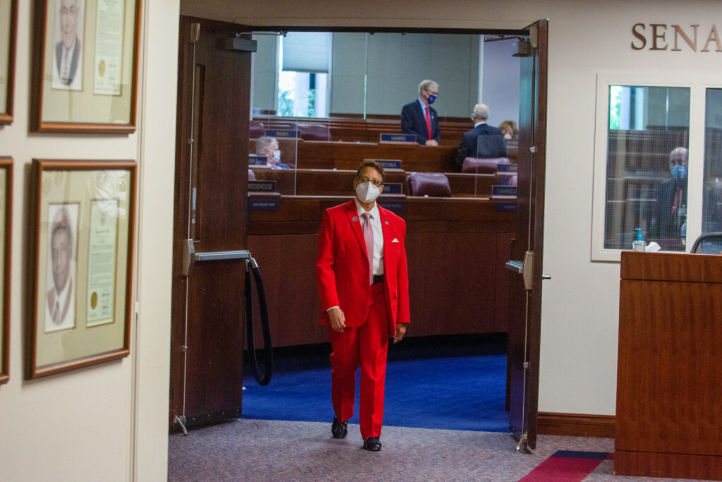State Senator Spearman on Sunday, Aug. 2, 2020 during the third day of the 32nd Special Session of the Legislature in Carson City.