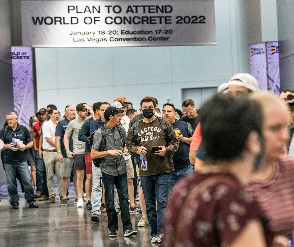 PHOTOS: World of Concrete's opening ends 15-month absence of Las Vegas-hosted conferences - The Nevada Independent