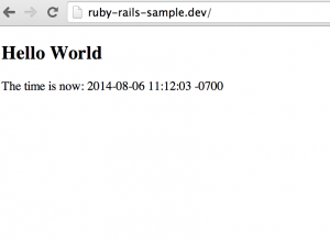 Our Rails app running locally