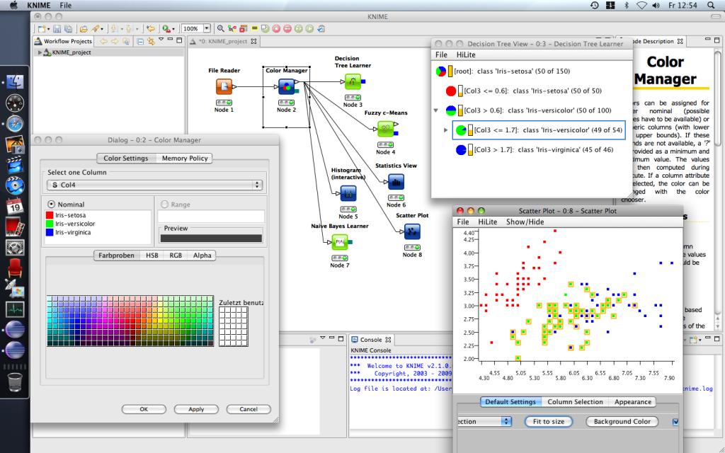 Data mining tools python list