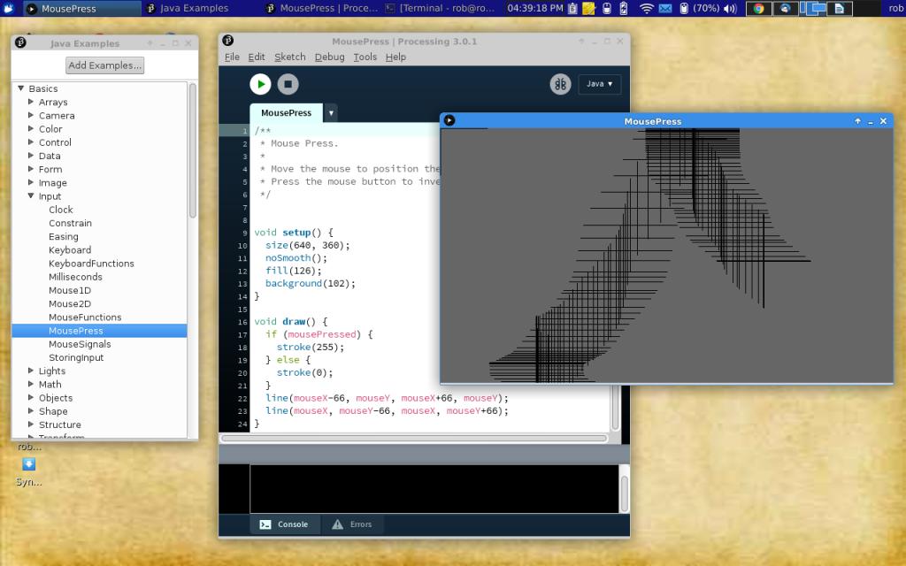Processing Language screenshot