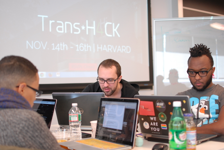 Programmers at TransHack: Boston