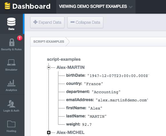 Data Entered in Google Firebase