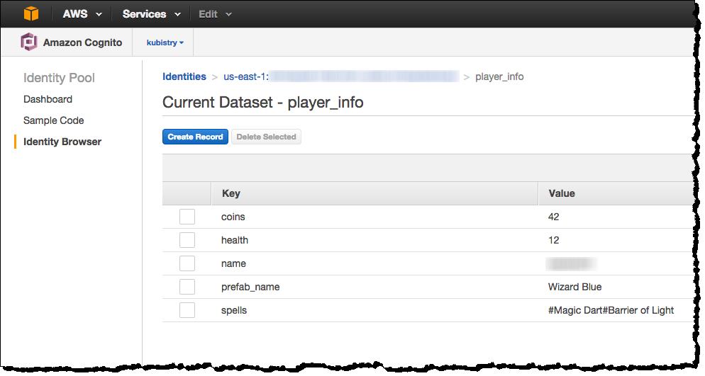 AWS Cognito User Data