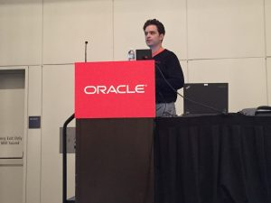 Jon Reeve presenting the OCN at OOW16