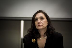 A photograph of media theorist Sherry Turkle by Flickr user jeanbaptisteparis