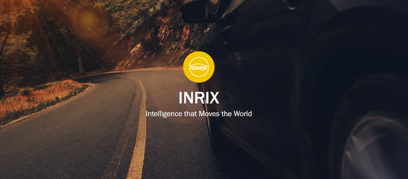 INRIX web site screenshot