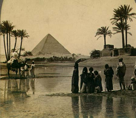 Great Pyramid of Giza from a 19th-century stereopticon card photo