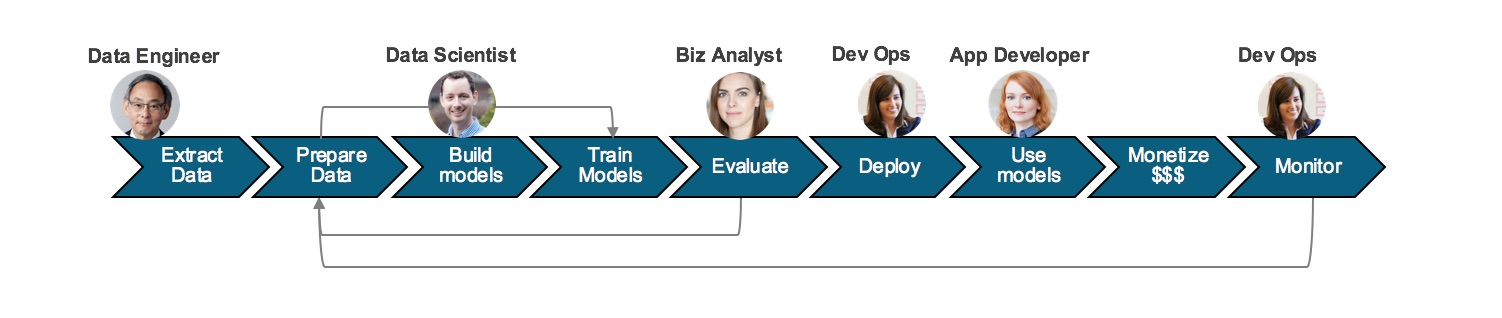 Team roles in machine learning workflows