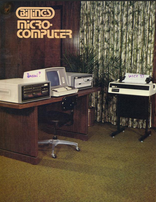 Billings Microcomputer ad - From Ted Nelson's junk mail