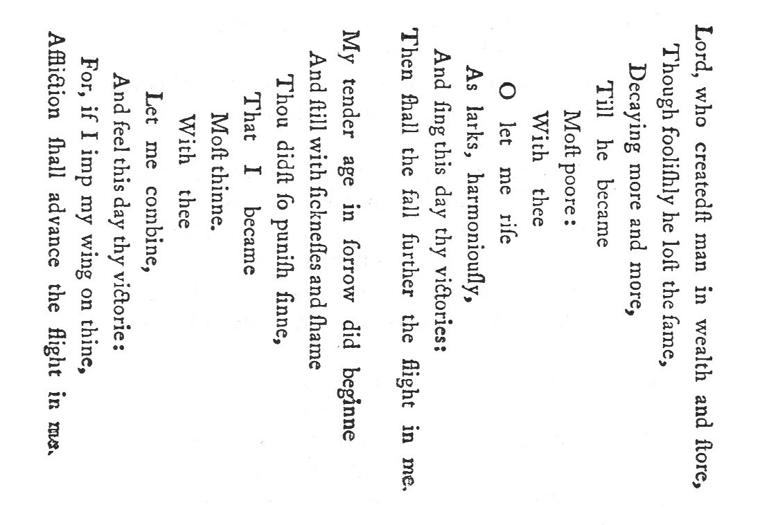 "George Herbert's ""Easter Wings"" from 1633"