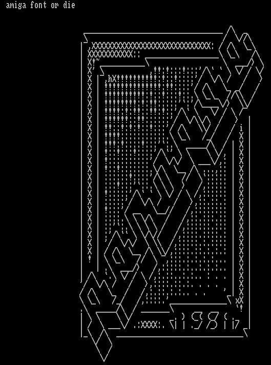 Amiga font or die - 1981