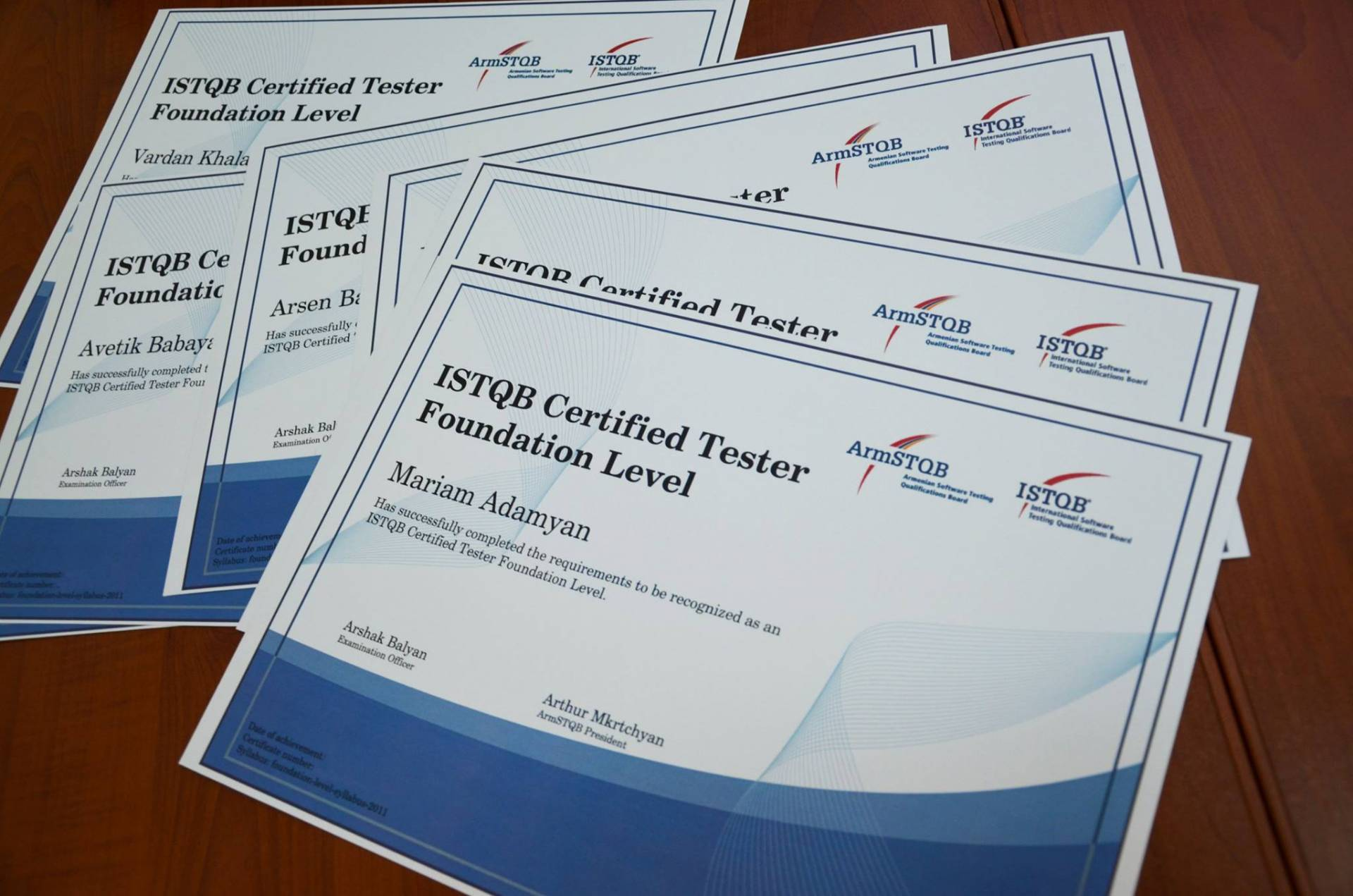 Armstqb armenian software testing qualifications board armstqb istqb foundation level certificates giving ceremony xflitez Images