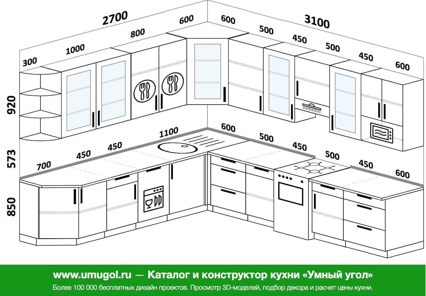 Кухня мебель размеры стандартные фото