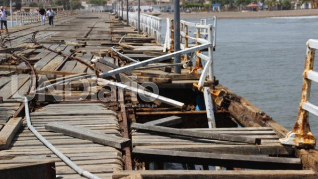 Muelle destruido