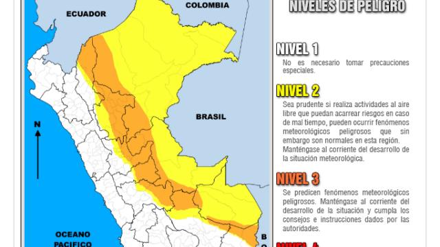 Senamhi Lluvias Peru
