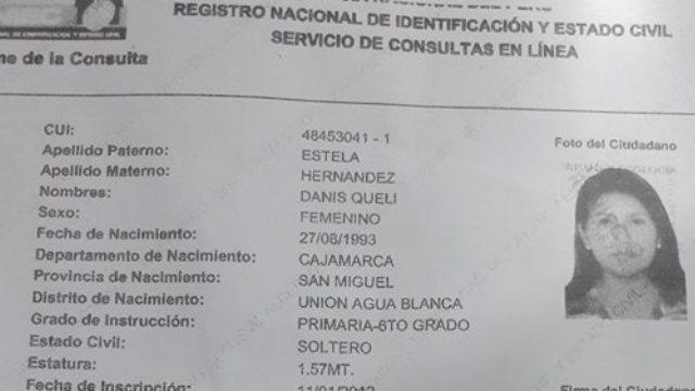 Danis Queli Hernandez Reniec