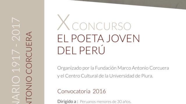 Afiche El Poeta Joven Del Perú 1