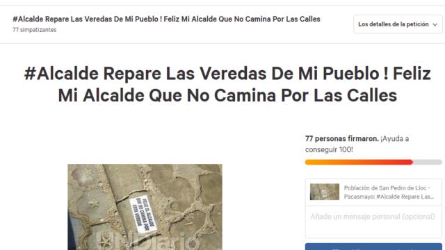 Change Alcalde Repare Las Veredas