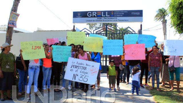 Protesta Inif 35 Guadalupe Ugel Pacasmayo