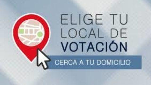 Elige Tu Local De Votacion Onpe 2