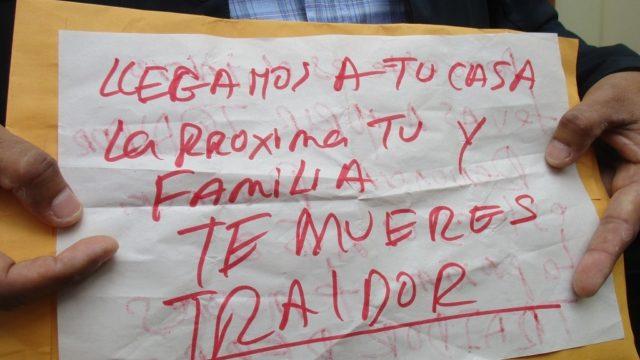 Img 0530  Escrito Amenaza Muerte A Candidato Alcaldía Pacanga App Miguel Leyva Cabanillas 2018