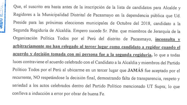 Becerra Zanini Todos Por El Peru Renuncia