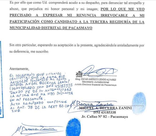 Becerra Zanini Todos Por El Peru Renuncia 2