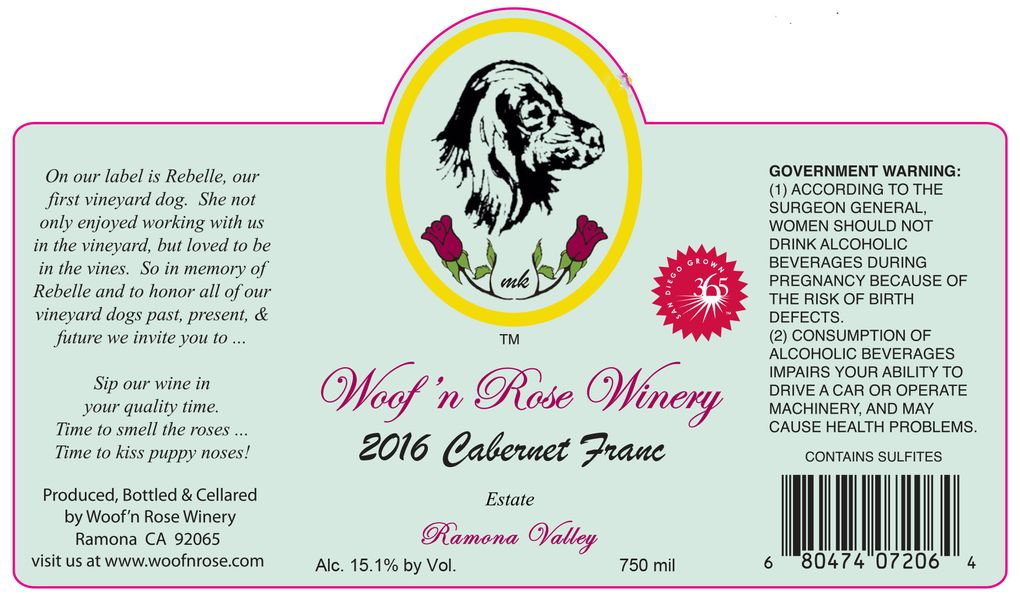 2016 Estate Cabernet Franc
