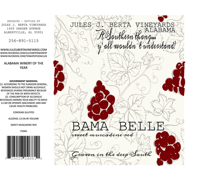 Product Image for Bama Belle Red Muscadine
